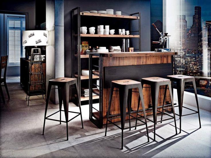 Kika City industrial bar  Living room ideas  Pinterest