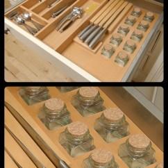 Kitchen Cupboards Ideas Wayfair Stools Woodways Custom Built-in Spice Rack #spicerack #built-in ...