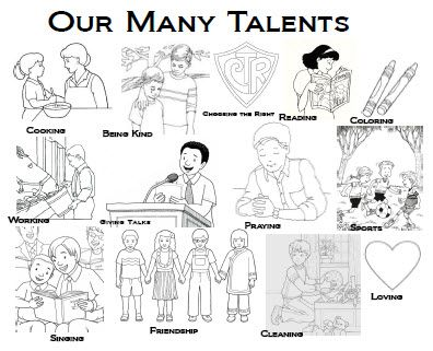Parable of the talents, Coloring pages and Coloring on