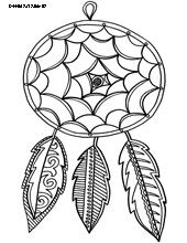 24 best images about Dreamcatcher Coloring Pages on