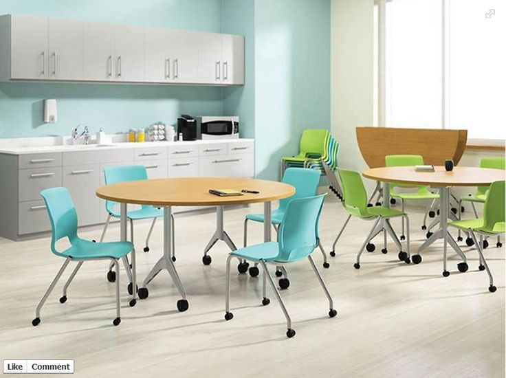 Colorful tables for office lunch room  New Office