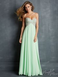 The soft and pretty look of this Night Moves prom dress is