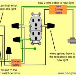 Wiring Lights And Outlets On Same Circuit Diagram Ge Cafe Refrigerator To Add A Light Fixture Switched Receptacle | Home Improvement/diy Pinterest