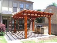 stamped concrete patio with trellis   For the Home ...