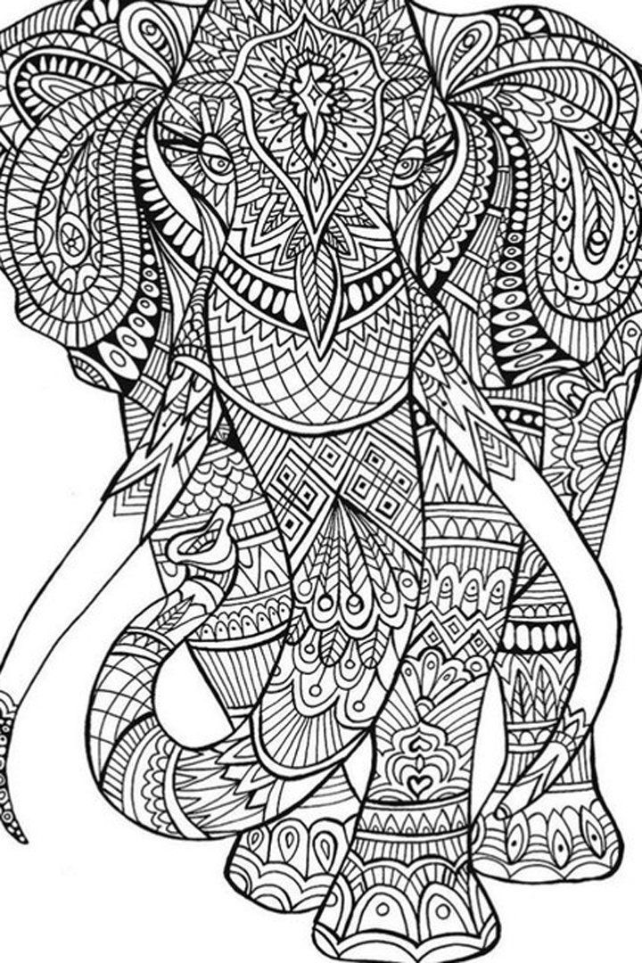 50 Printable Adult Coloring Pages That Will Make You Feel ... | free printable coloring pages for adults animals