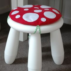 Chair Covers In Ikea Kelsyus Beach Canopy Toadstool Cushion Red - Children/kids For Mammut Stool / | Chairs, Children ...