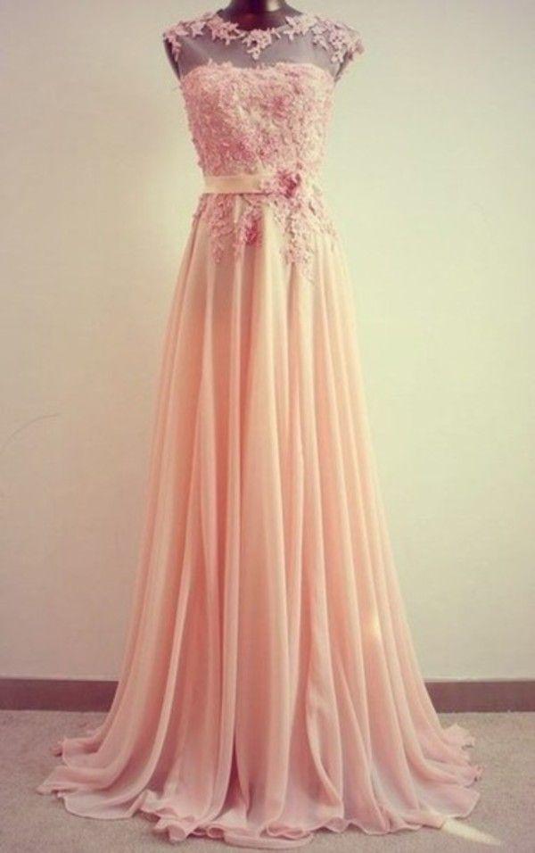 Dress: elegent evening wear prom blush pink debs ball gown