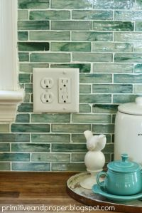 Primitive & Proper: DIY Recycled Glass Backsplash with The ...