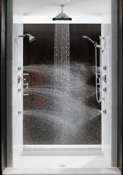 A multidirectional steam shower  Bathrooms  Pinterest  Steam Showers Showers and Remodeling