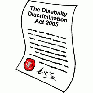 The disability discrimination Act prohibits discrimination