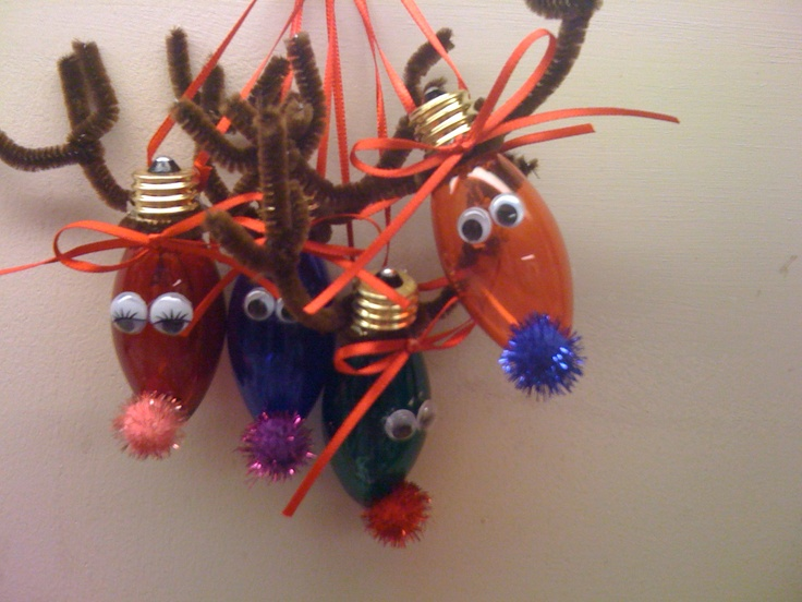 Light Bulb Reindeer Ornaments Crafts I Want To Make