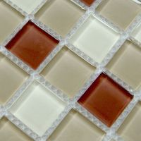 Crystal glass mosaic mirror sheets mix color kitchen ...