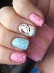 kitty nail art nails