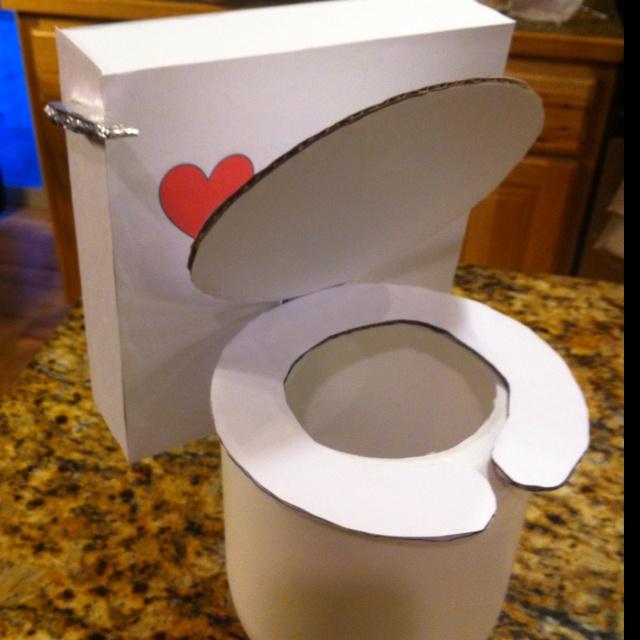 Toilet Valentines Box Valentines Day Pinterest