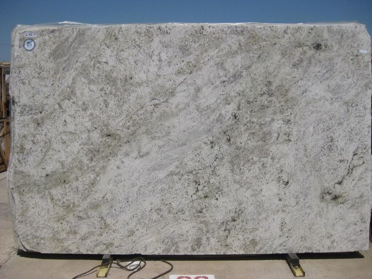 Salinas White granite countertop A great alternative to hardtomaintain marble but with the