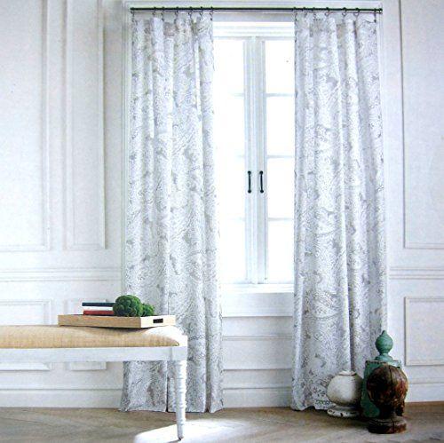 ENVOGUE Floral Bird Window Curtain Panels Set Of 2 Drapes Pair 96 Teal Gold NEW EBay