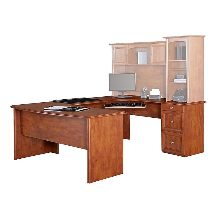 Realspace Broadstreet Contoured U Shaped Desk