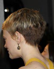pixie haircut of head carey