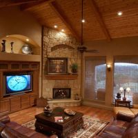 Corner Fireplace Design Ideas, Pictures, Remodel, and ...