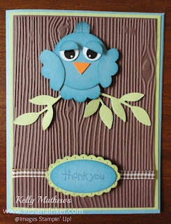 Indiana Inker – Blue Bird Punch Art Card Larkin and I need to make this with the