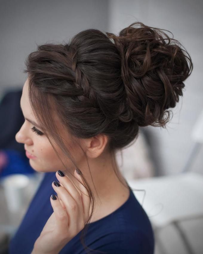 25 Best Ideas About Messy Curly Bun On Pinterest Simple Updo