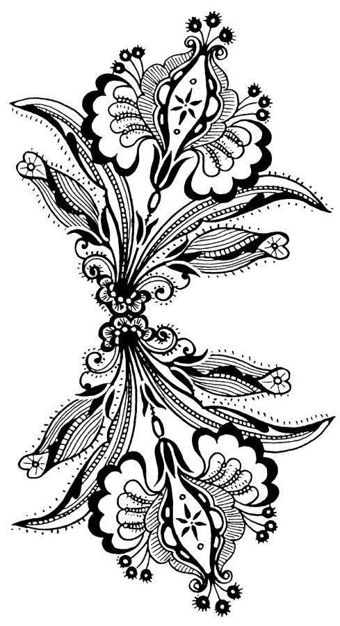1000 Ideias Sobre Tatuagens Florais De Desenhos Indianos No