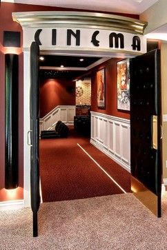 """I love the idea of headers over the doors … especially rooms like """"library"""" or """"cinema"""""""