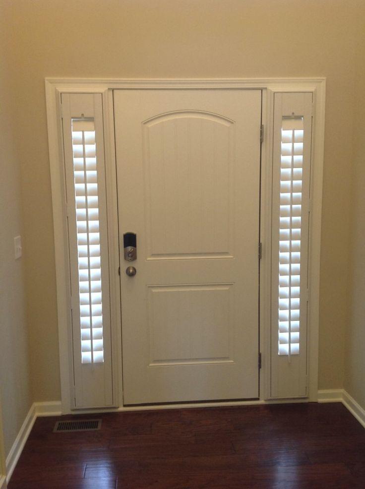 side light plantation shutters sidelight curtainswindow