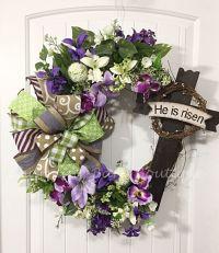 25+ best ideas about Cross Wreath on Pinterest | Easter ...
