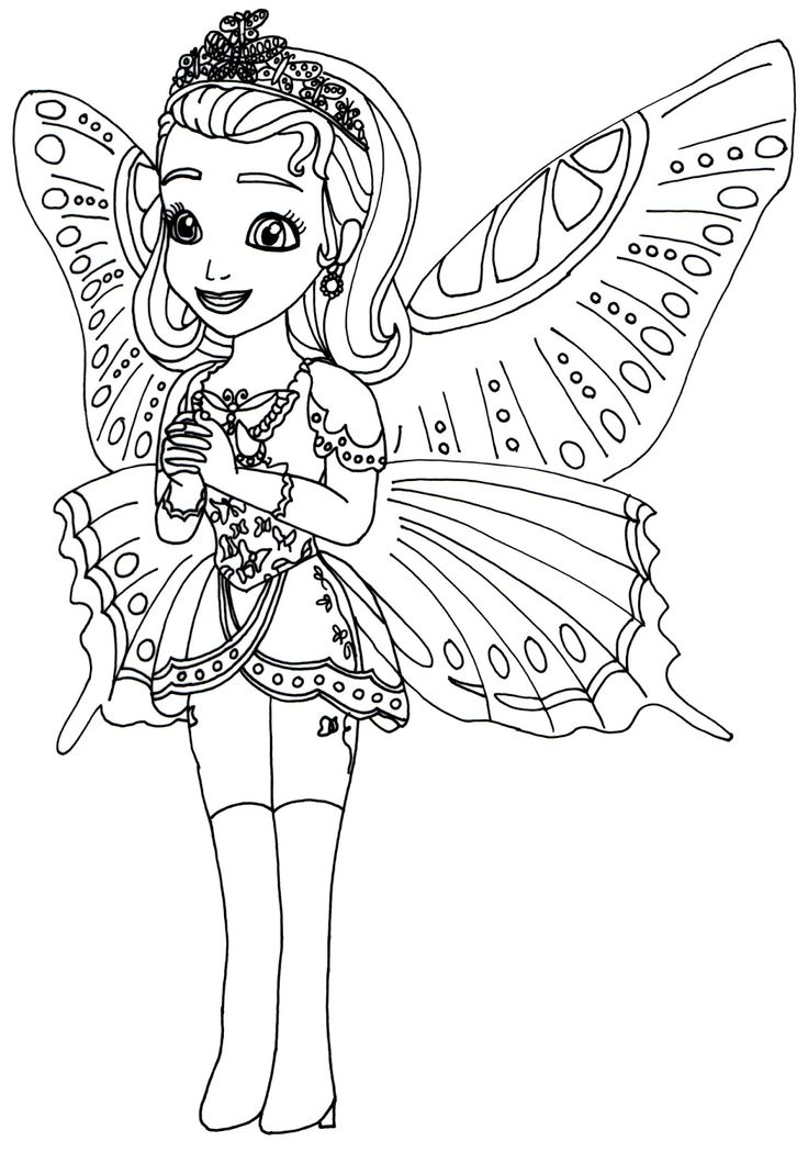 Sofia The First Coloring Pages: Princess Butterfly Sofia