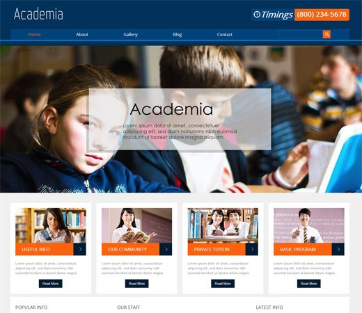Education Website Sample Example Template College