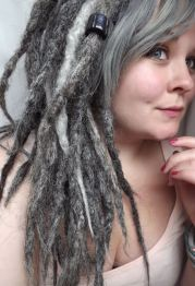 dreads gray and grey