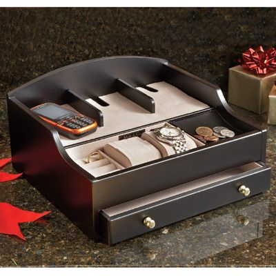 Mens Charging Valet And Jewelry Box A Handsome Way To