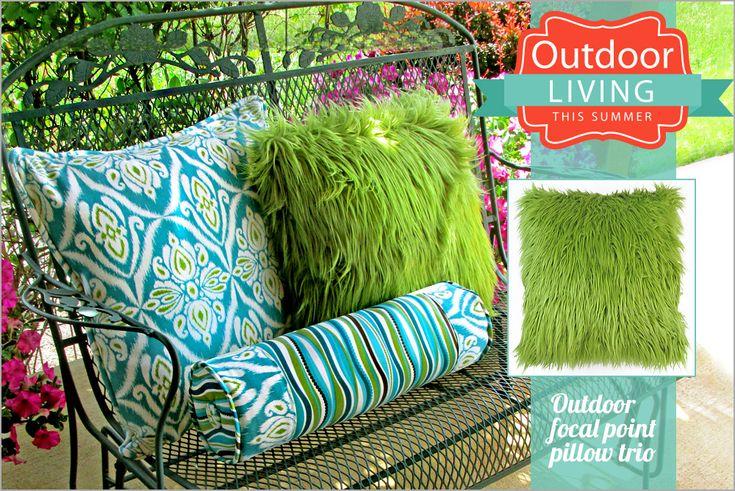 Outdoor Pillow Trio Outdoor Living with Fabriccom