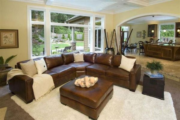 leather living room with sectional ideas 1000+ ideas about Brown Sectional on Pinterest | Leather