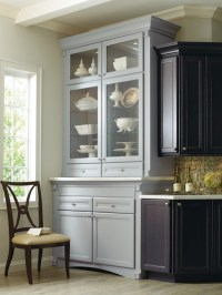 Corina Maple kitchen, shown in Graphite and Niagara, by ...