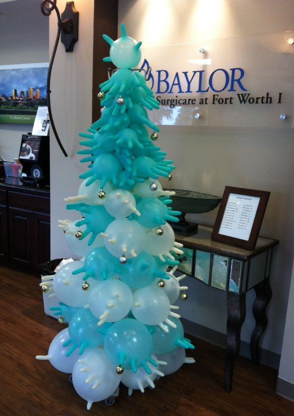 Clever Christmas Tree Made From Surgical Gloves And An Iv