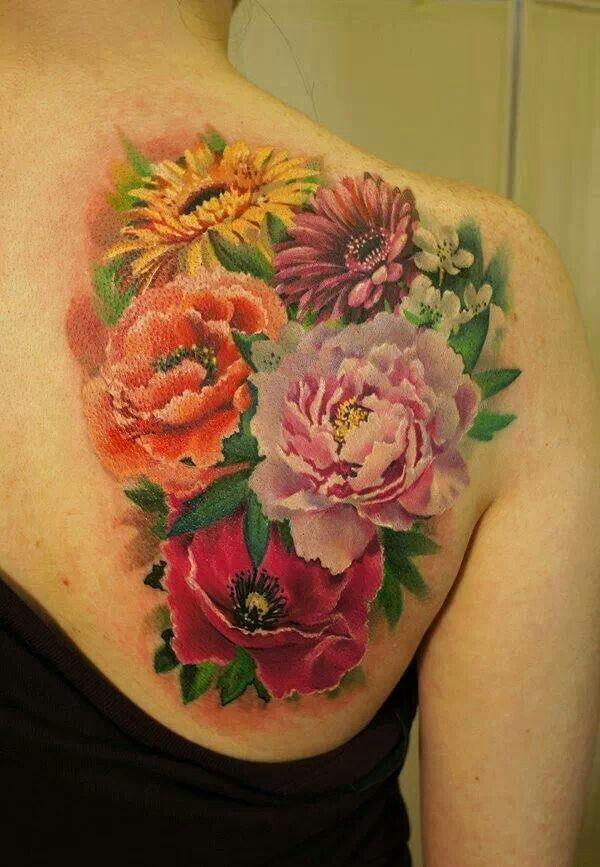 Amazing Flower Tattoo!!  Tattoos  Pinterest Flower