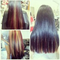 Wild hair color black red and blonde | Hair by Whitney ...