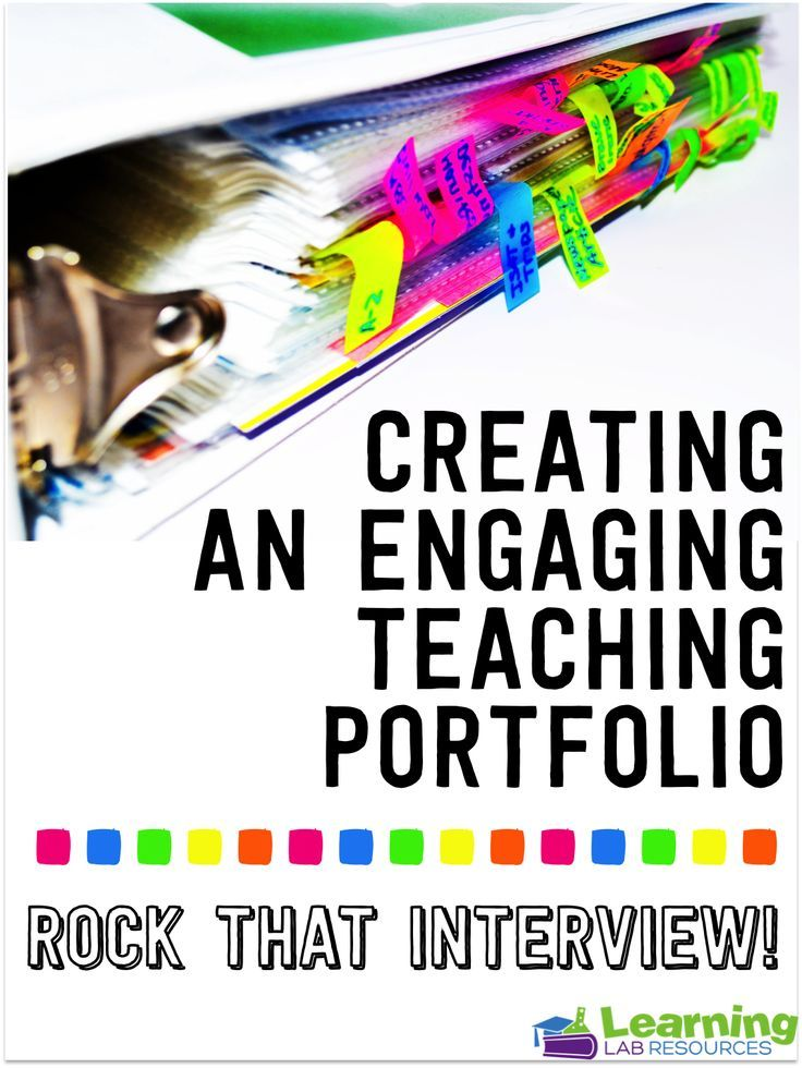 Creating a Teaching Portfolio for Job Interviews  Bright Ideas for the Classroom  Pinterest