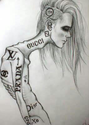 anorexia model runway drawings pinterest