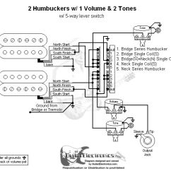 Guitar Wiring Diagram 2 Humbucker 1 Volume Tone 230v Dpdt Relay | Wire Color Codes Pickup Switch Cross Reference ...