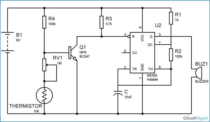 burglar alarm circuit diagram using ic 555 photos