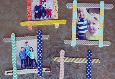 Popsicle Stick Frames Popsicle Stick Ideas Pinterest