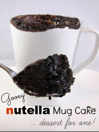 Nutella Mug Cake by Spend with Pennies