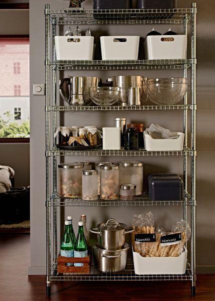 Ikea Free Standing Stainless Steel Shelves Omar 1 Shelf