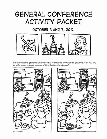 Arie Van De Graff General Conference Coloring Packet **To