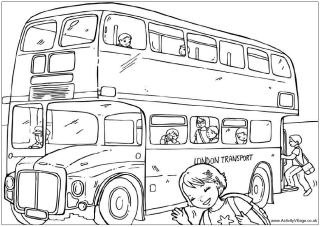 London bus colouring page, routemaster colouring page