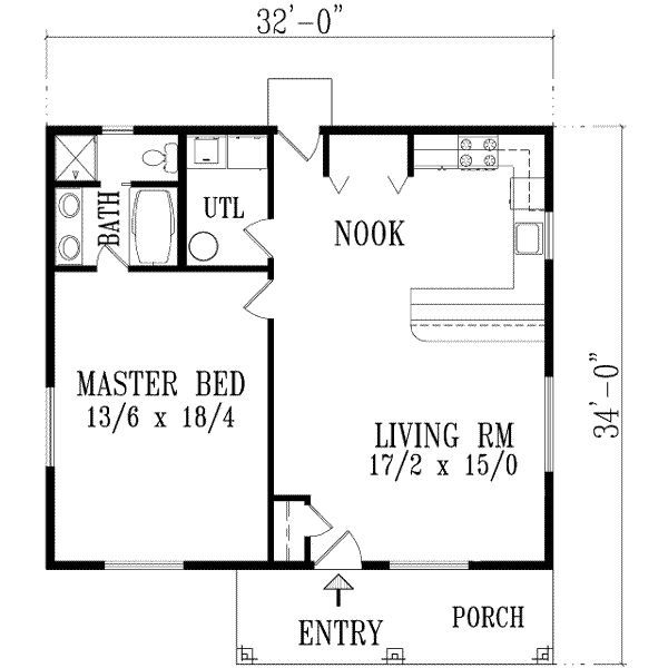 Exceptional One Bedroom Home Plans 10 1 House