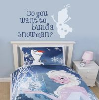 Frozen wall decal - Build a snowman by wildgreenrose.etsy ...